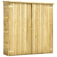 vidaXL Szopa na narzędzia, 163x50x171 cm, impregnowane drewno sosnowe