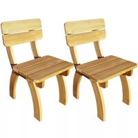 vidaXL Krzesła ogrodowe 2 szt., impregnowane drewno sosnowe