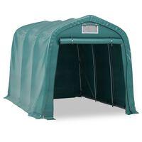 vidaXL Namiot garażowy z PVC, 2,4 x 3,6 m, zielony