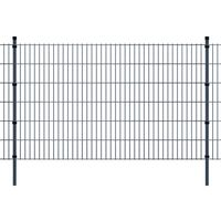 vidaXL 2D Panele ogrodzeniowe z słupkami 2008x1230 mm 24 m Szare