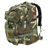 vidaXL Plecak w wojskowym stylu, 50 L, moro