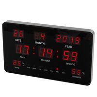 Perel Zegar ścienny LED, 37,8 x 25,8 cm, czarny