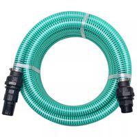 vidaXL Wąż ssący ze złączkami, 4 m, 22 mm, zielony