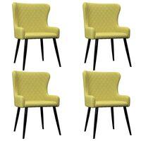 vidaXL Krzesła do jadalni, 4 szt., zielone, tapicerowane tkaniną