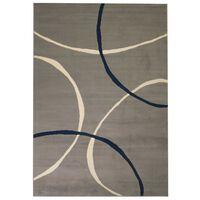 vidaXL Nowoczesny dywan, wzór w koła, 80 x 150 cm, szary