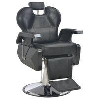 vidaXL Fotel barberski, czarny, 72x68x98 cm, sztuczna skóra