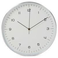 Perel Zegar ścienny, 30 cm, biało-srebrny