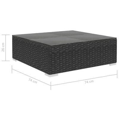 vidaXL 8-cz. zestaw wypoczynkowy do ogrodu, poduszki, rattan PE czarny