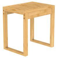 EISL Stołek do łazienki, bambusowy, 40x30x45 cm