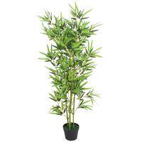 vidaXL Sztuczny bambus z doniczką, 120 cm, zielony