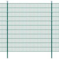 vidaXL 2D Panele i słupki ogrodzeniowe 2008x2230 mm 30 m zielone