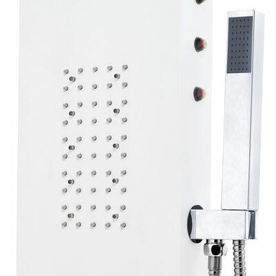 vidaXL Panel prysznicowy, aluminiowy, biały, 20x44x130 cm