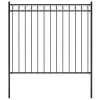vidaXL Panel ogrodzeniowy, stalowy, 1,7 x 1,5 m, czarny