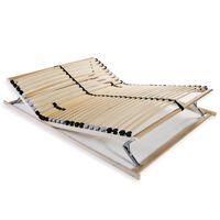vidaXL Stelaż do łóżka z 28 listwami, 7 stref, 140 x 200 cm