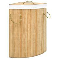 vidaXL Bambusowy kosz na pranie, narożny, 60 L