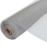 vidaXL Siatka na insekty, aluminiowa, 150 x 500 cm, srebrna