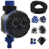 vidaXL 142-elementowy, automatyczny system nawadniania z zegarem