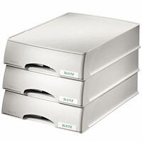 Leitz Pojemnik na listy i dokumenty Plus z szufladami, szary