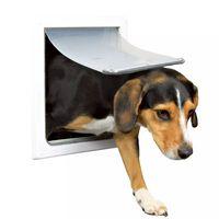 TRIXIE Drzwiczki dla psa z 2 formami zamknięcia  S-M 30x36 cm białe