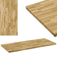 vidaXL Prostokątny blat do stolika z drewna dębowego, 44 mm, 120x60 cm