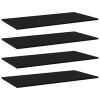 vidaXL Półki na książki, 4 szt., czarne, 100x50x1,5 cm, płyta wiórowa