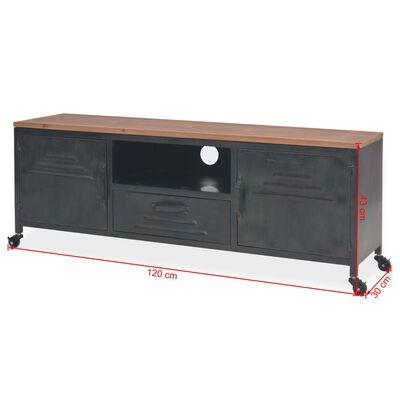 vidaXL Szafka pod telewizor, 120 x 30 x 43 cm, czarna
