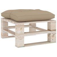 vidaXL Ogrodowy stołek z palet z beżową poduszką, drewno sosnowe