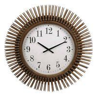 Gifts Amsterdam Zegar ścienny Daphne, okrągły, naturalne drewno, 64 cm