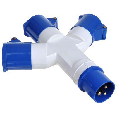 ProPlus 3-wtykowy rozdzielacz prądowy, przemysłowy, 16 A