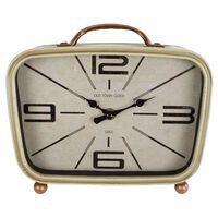 Gifts Amsterdam Zegar biurkowy Retro, metalowy, 22x8x19 cm