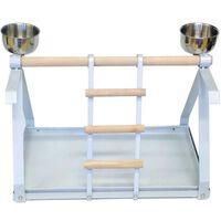 Strong Plac zabaw dla papug Livia, srebrno-biały, 49,5x30,5x33 cm