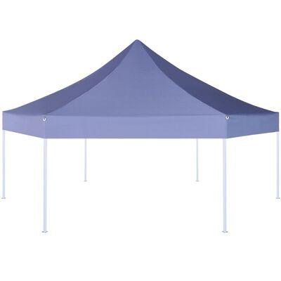 vidaXL Rozkładany namiot ogrodowy, sześciokątny, 3,6x3,1 m, granatowy