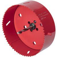 wolfcraft Otwornica bimetalowa, 121 mm, czerwona, 5497000