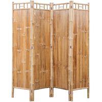 4-Panelowy parawan bambusowy