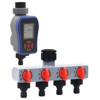 vidaXL Cyfrowy sterownik nawadniania z 1 ujściem i dystrybutorem wody
