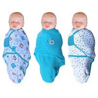 Bo Jungle Otulacz dla niemowląt B-Wrap, miś, 3 szt., niebieski
