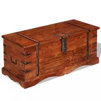 vidaXL Drewniana skrzynia, lite drewno