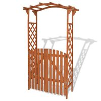 vidaXL Pergola ogrodowa z bramką, lite drewno, 120 x 60 x 205 cm