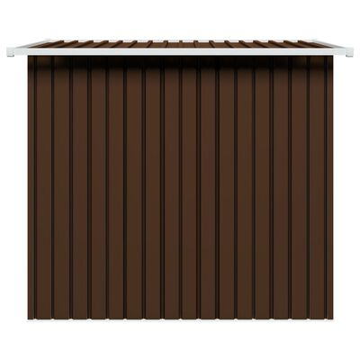 vidaXL Szopa ogrodowa, brązowa, 194 x 121 x 181 cm, stalowa