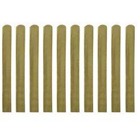 vidaXL 30 impregnowanych sztachet drewnianych, 100 cm