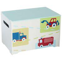 Worlds Apart Pudełko w ciężarówki i traktory, 60x39x39 cm, WORL230009