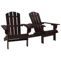 vidaXL Krzesło ogrodowe Adirondack, lite drewno jodłowe, brązowe