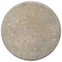 vidaXL Blat do stołu, szary, Ø70 x 2,5 cm, marmur