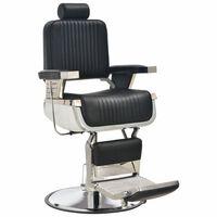 vidaXL Fotel barberski, czarny, 68x69x116 cm, sztuczna skóra