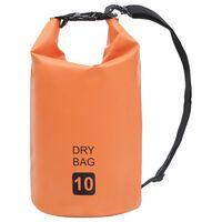 vidaXL Worek wodoszczelny, pomarańczowy, 10 L, PVC