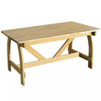 vidaXL Stół ogrodowy, 150x74x75 cm, impregnowane drewno sosnowe