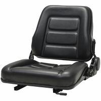 vidaXL Fotel do ciągnika/wózka widłowego z regulowanym oparciem,czarny