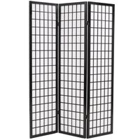 vidaXL Składany parawan 3-panelowy w stylu japońskim, 120x170, czarny