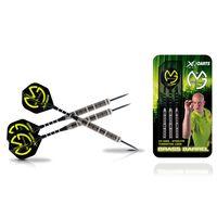 XQmax Rzutki do darta, 23g mosiężne, czarno-zielone QD7000650