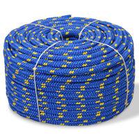 vidaXL Linka żeglarska z polipropylenu, 10 mm, 250 m, niebieska